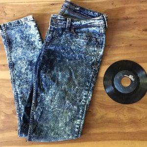 Levi's acid wash skinny jeans